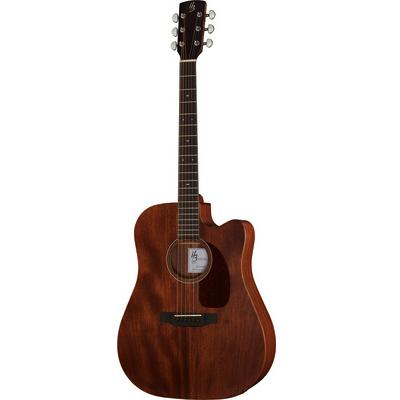 Flot guitar i mørkt træ