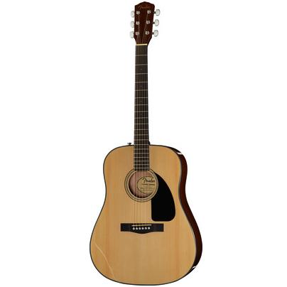 Fender CD akustisk guitar på hvid baggrund