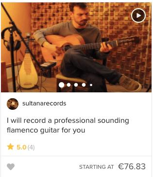 Tjen penge med din guitar på en niche